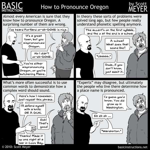 Oregon Pronunciation